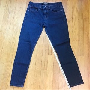 Express Jean skinny mid rise legging medium blue